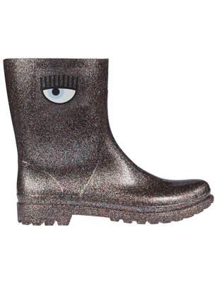 Chiara Ferragni Glitter Ankle Boots