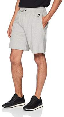 Flying Ace Men's French Terry Raw Edge Pull on Shorts with Logo Embroidery