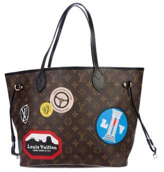 Louis Vuitton 2016 Monogram World Tour Neverfull MM W/Pouch