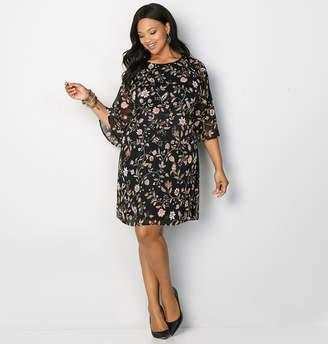 Avenue Floral Flutter Sleeve Sheath Dress