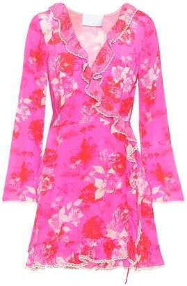 Athena Procopiou Melrose Sunset silk wrap dress