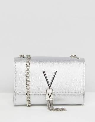 Mario Valentino Valentino By Foldover Tassel Detail Cross Body Bag