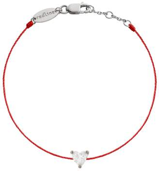 Redline Diamond Heart Red Bracelet - White Gold