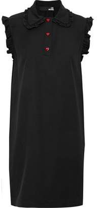 Love Moschino Ruffled Crepe De Chine Mini Dress