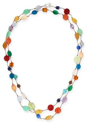 "Margo Morrison Carnival Multi-Stone Long Necklace, 53""L"