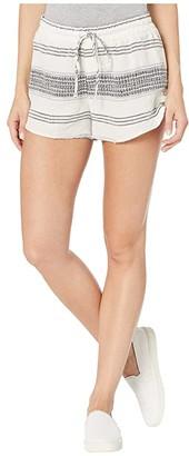 Bella Dahl Textured Stripe Button Side Tulip Shorts