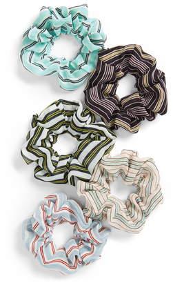 BP 5-Pack Stripe Scrunchie Set