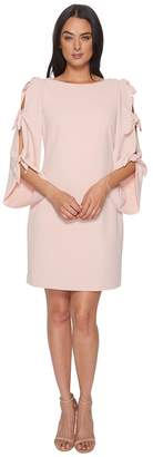 Vince Camuto Tie Bell Sleeve Crepe Ponte Dress Women's Dress