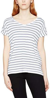 Teddy Smith Women's Teyla Striped Short Sleeve T-Shirt,(Taille Fabricant: 2