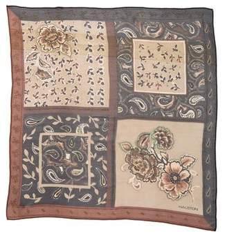 Halston Printed Silk Scarf