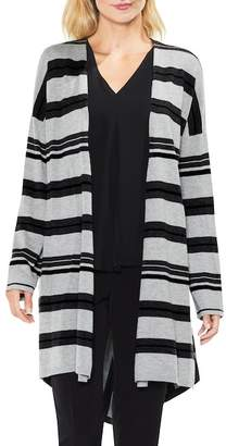 Vince Camuto Stripe Open Front Cardigan
