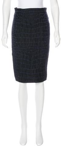 Saint LaurentYves Saint Laurent Knee-Length Pencil Skirt