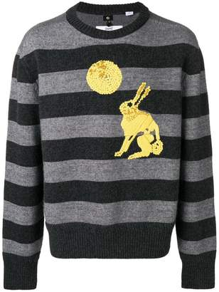 Oamc embroidered rabbit detail sweater