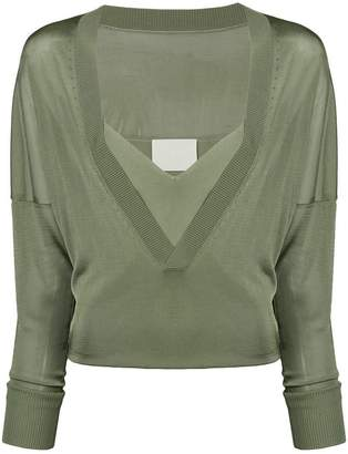 Dion Lee layered V-neck sweater