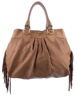 Pre Owned At Therealreal Just Cavalli Leather Fringe Tote