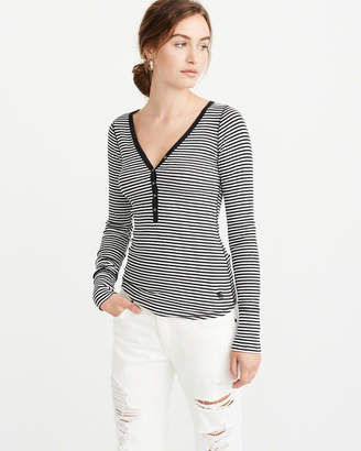 Abercrombie & Fitch Icon Ribbed Henley