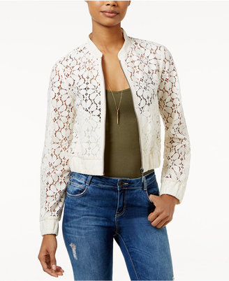 American Rag Floral Lace Bomber Jacket, Created for Macy's $69.50 thestylecure.com