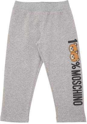 Moschino Logo Printed Cotton Pants