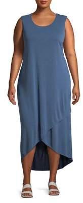 Nic+Zoe Plus Boardwalk Washed Tulip-Hem Dress