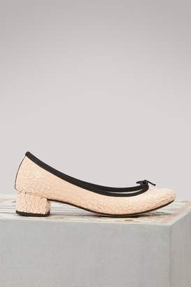 Repetto Camille heeled ballet pumps