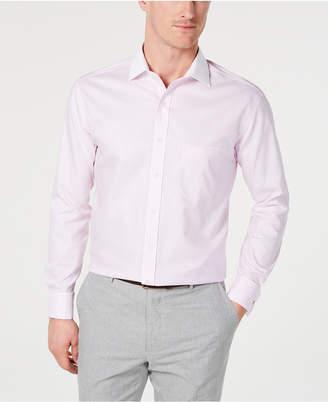 Tasso Elba Men Classic/Regular Fit Non-Iron Supima Cotton Twill Bar Stripe French Cuff Dress Shirt