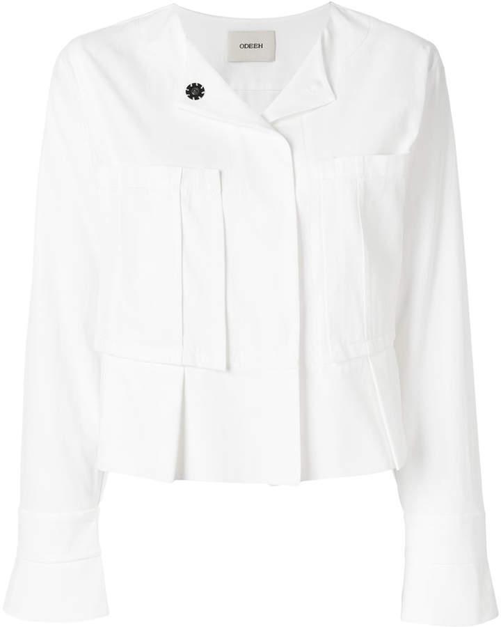 oversized chest pockets jacket