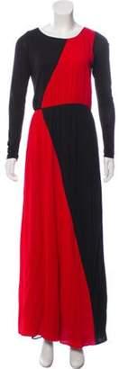 Alice + Olivia Silk Maxi Dress Red Silk Maxi Dress