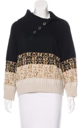 St. John Patterned Wool-Blend Sweater