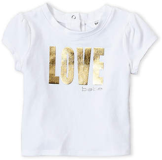 Bebe Infant Girls) Foil Love Tee