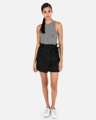 Express Super High Waisted Side Tie Mini Skirt