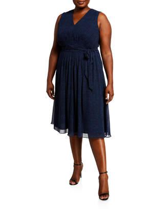 Anne Klein Plus Size Robin's Egg Print Midi Dress
