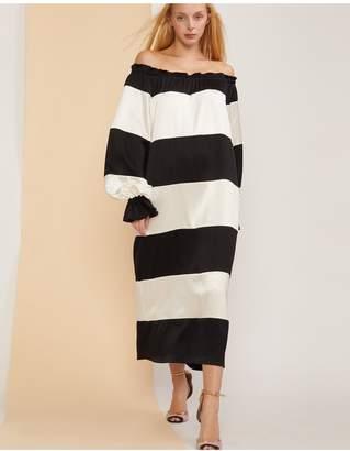 Cynthia Rowley Shanley Striped Off Shoulder Dress
