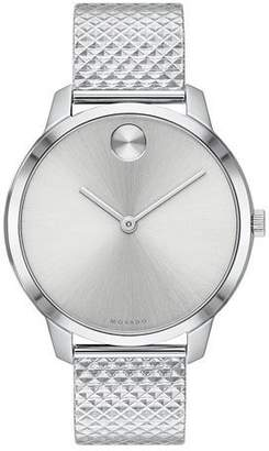 Movado 35mm Bold Thin Watch w/ Mesh Bracelet
