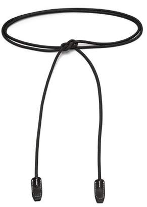 Acne Studios Leather Rope Waist Belt - Womens - Black