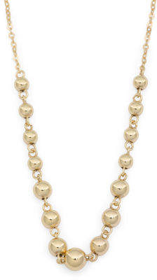 Made In Italy 14k Gold Graduated Bead Necklace