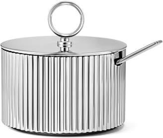 Georg Jensen Living Bernadotte Stainless Steel Sugar Bowl and Spoon