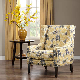 Three Posts Agnes Wingback Chair Upholstery Pattern: Floral/Flower, Upholstery