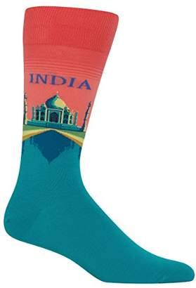 Hot Sox Men's Fashion Travel Crew Socks