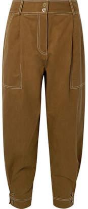 Ulla Johnson Fleet Tencel And Cotton-blend Pants - Army green