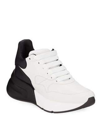 Alexander McQueen Two-Tone Runner Sneakers with Exaggerated Sole