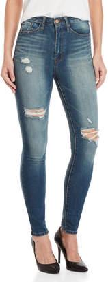 William Rast Dark Wash High-Waisted Skinny Jeans