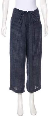 DKNY Striped Cropped Pants