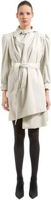 Balenciaga Pulled Feminine Canvas Trench Coat