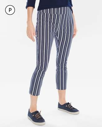So Slimming Petite Brigitte Beach Striped Slim Crops
