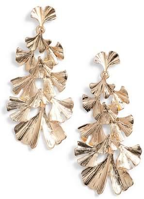Stella + Ruby Layered Leaf Earrings