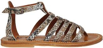 K. Jacques Skinned Cage Sandals