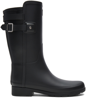 Hunter Original Refined Back Strap Short Boot $158 thestylecure.com