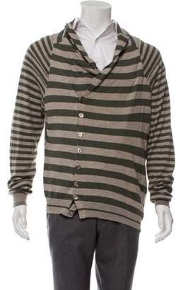 Alexander McQueen Striped Wrap Cardigan w/ Tags