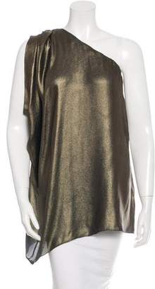 Rachel Zoe Silk One-Shoulder Top