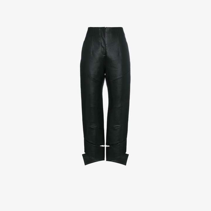 Materiel High-Waisted Faux Leather Trousers